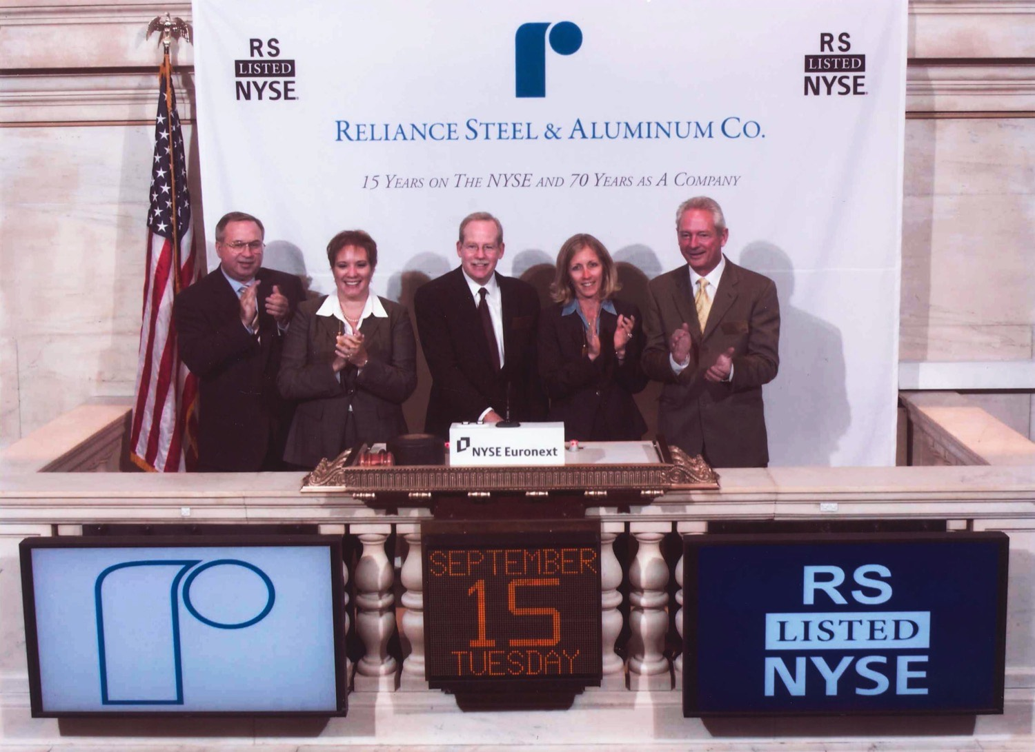 Reliance Steel NYSE 15 Year Anniversary